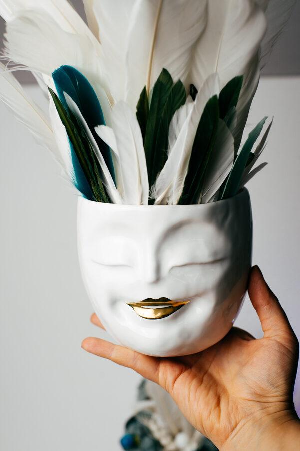 Laimīgais porcelāna podiņš L