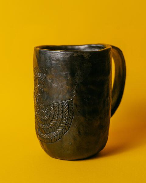 Māla krūze ar AUSTOŠĀS SAULES rakstu XL